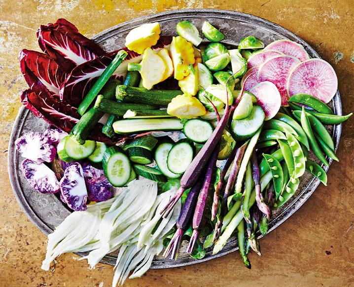raw veggie crudite from graze cookbook