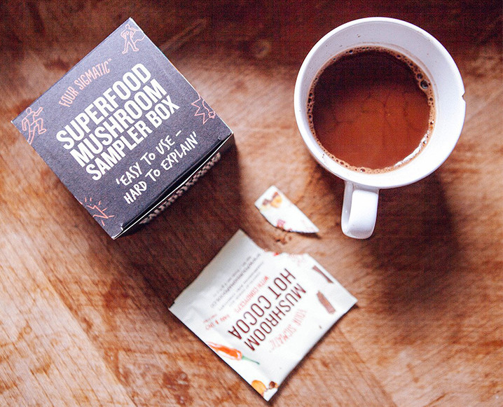 free People Pop-Up with four sigmatic mushroom lattes