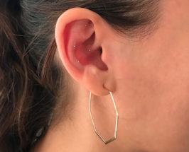 Auricular acupuncture small gold ear studs