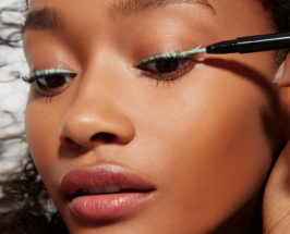 How To Wear Colored EyeLiner for holiday parties according to katey denno