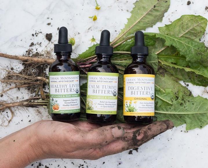 Urban Moonshine organic bitters for digestive health and immunity