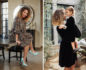 Split photo with Denise Vasi sitting on a table on the left and her holding up her daughter on the right