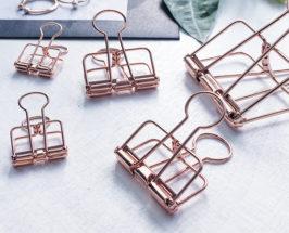Pretty Office Supplies for kitchen organization