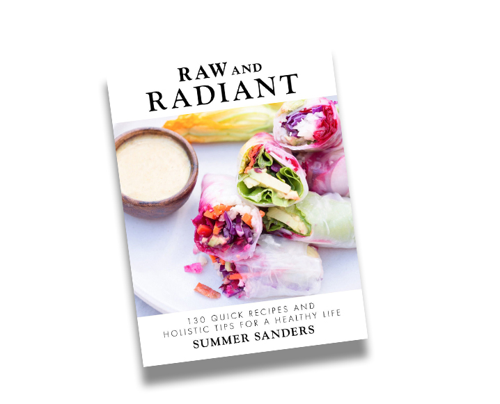 Front cover of Raw and Radiant by Summer Sanders