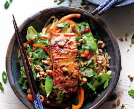 Alaska from Scratch ginger salmon noodle bowl recipe