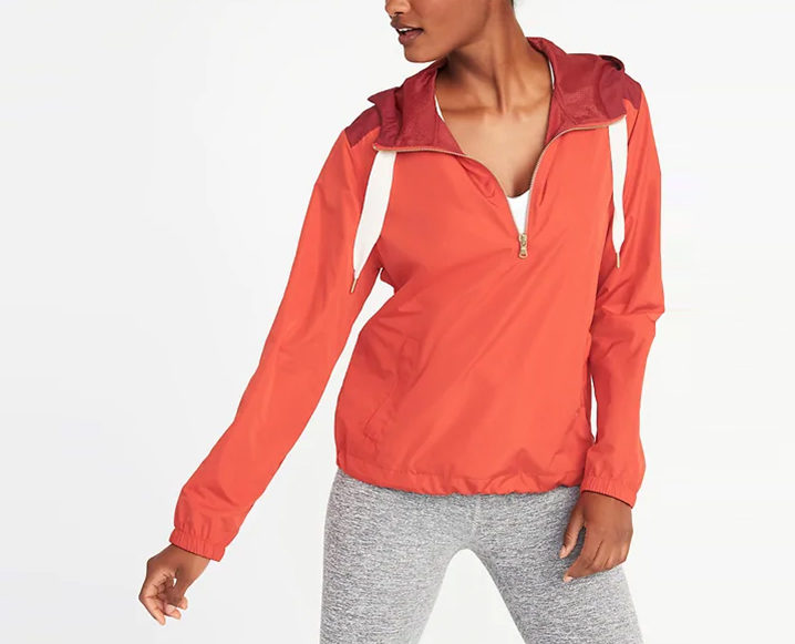 fitnesswear on a budget OLD NAVY GO-H2O WATER-RESISTANT HOODED ANORAK