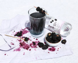 hint water charcoal mocktail