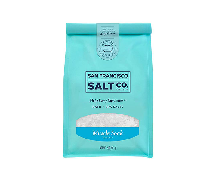 epsom salt bath SAN FRANCISCO SALT CO. MUSCLE SOAK BATH SALTS