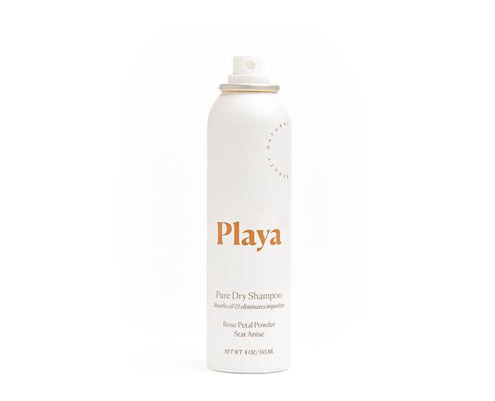 dry shampoo to fake a shower