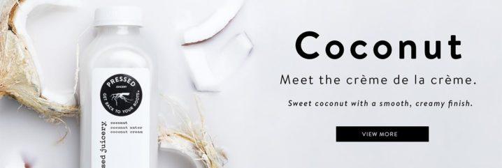 pressed juicery coconut milk banner