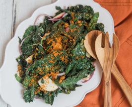 Grilled Kale Salad recipe jennie miremadi