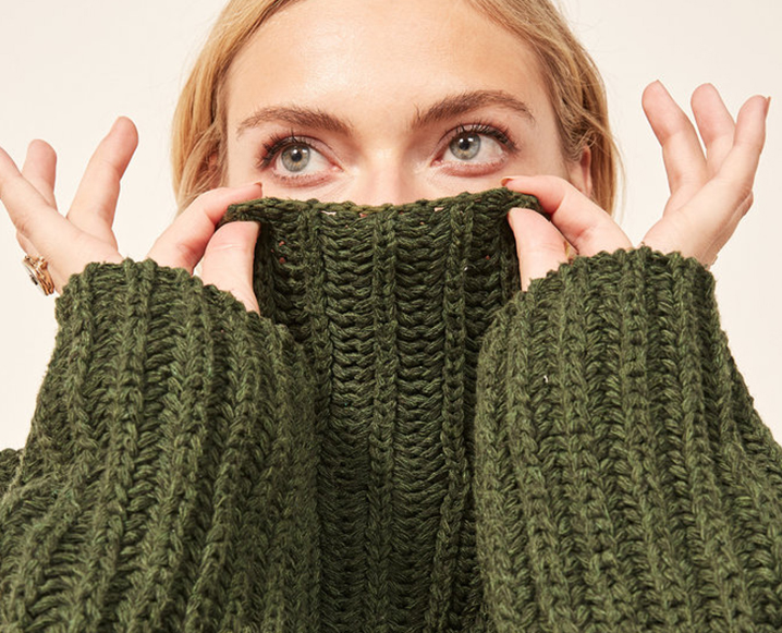 sustainable sweater on girl