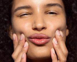 face yoga girl model makeup