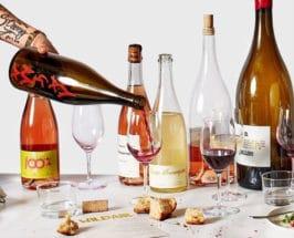 bottles of natural wine