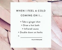 cold coming on immunity tips