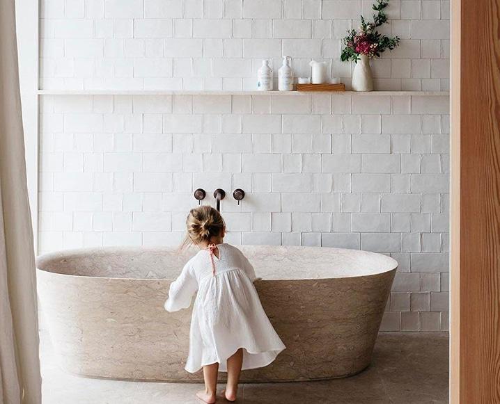 Bathing Rituals marble bath tub