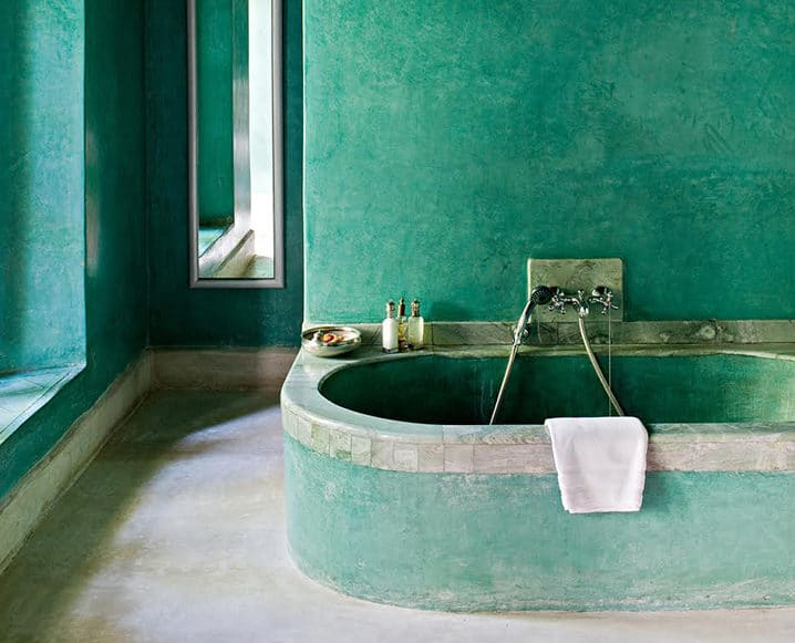 bathing rituals green bathtub
