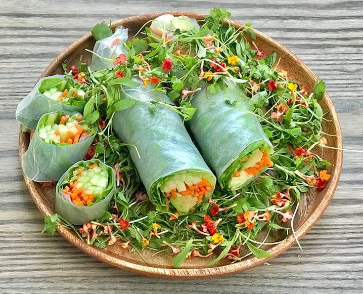 plant-based snacks spring rolls