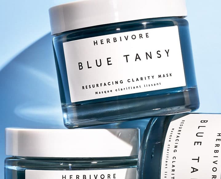 Winter Beauty Staples herbivore blue tansy mask