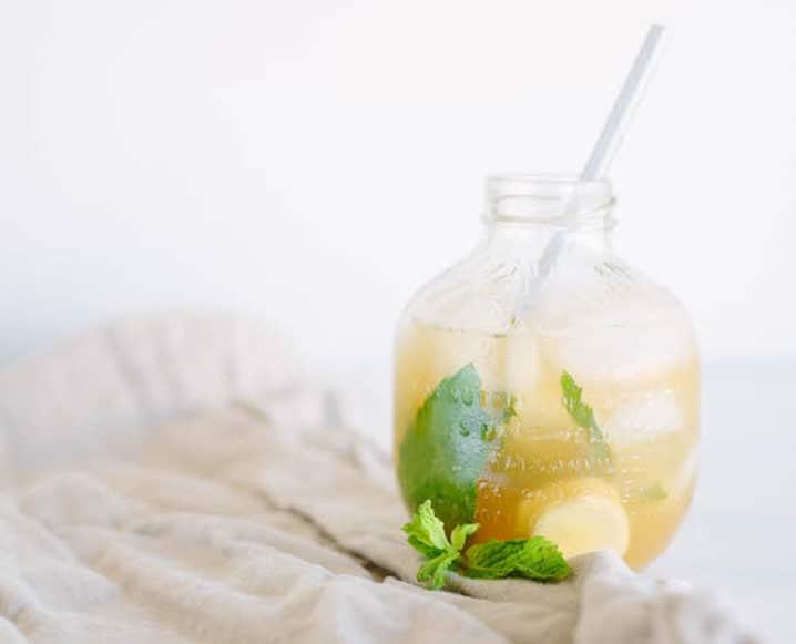 Digestive Mocktails in round jar