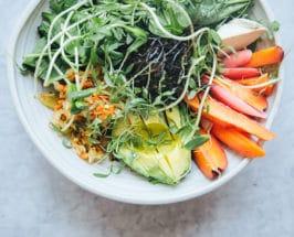 Gut Microbiome healthy salad