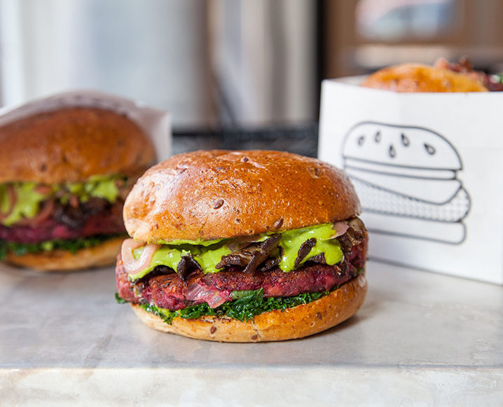 vegan burger by chloe