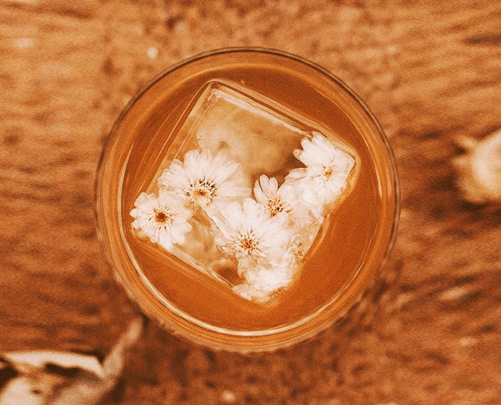 Home Remedies For Acne chamomile ice cube