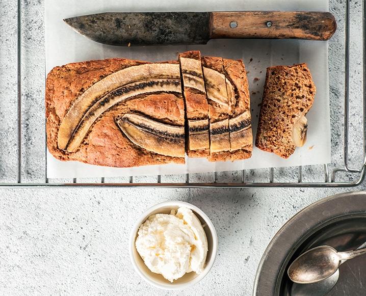 Healthy Banana Bread loaf