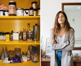 Ally Walsh portrait next to her pantry