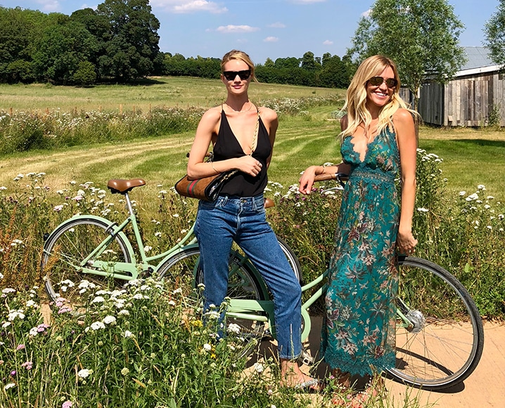 Rosie Huntington-Whiteley and claire grieve