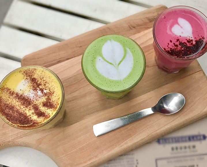 plant-based snacks lattes