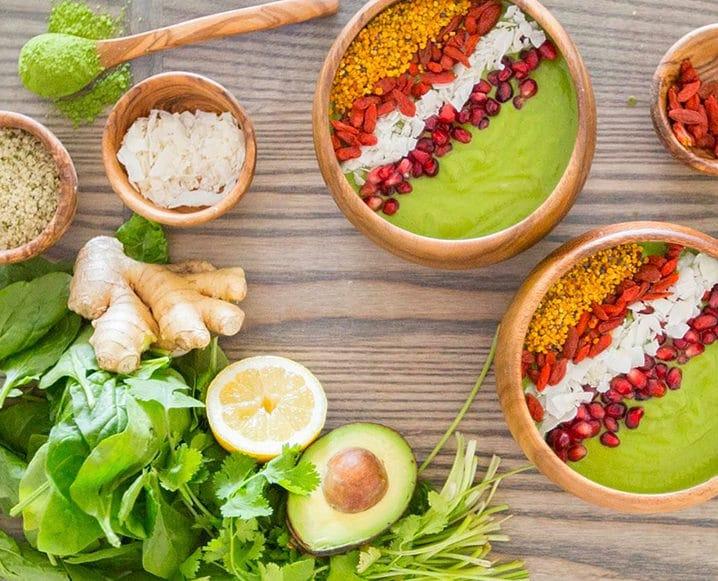 plant-based snacks smoothie bowls