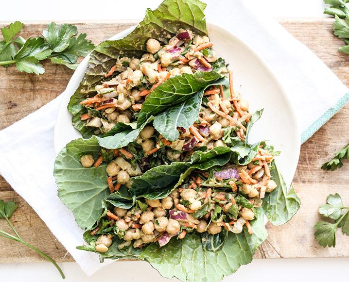 collard green vegan tacos