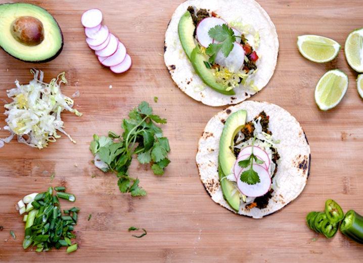mushroom avocado tacos