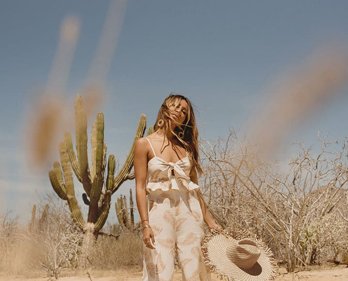Sincerely Jules in desert with straw hat
