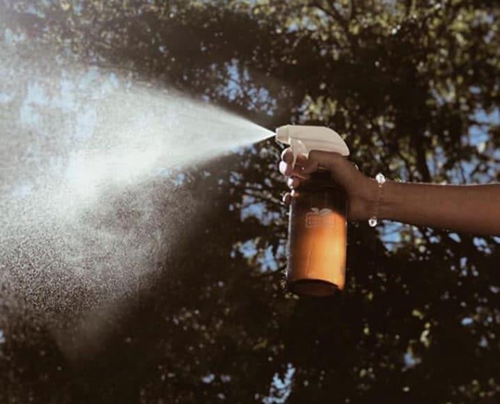 Homemade All-Purpose Cleaner bottle spraying