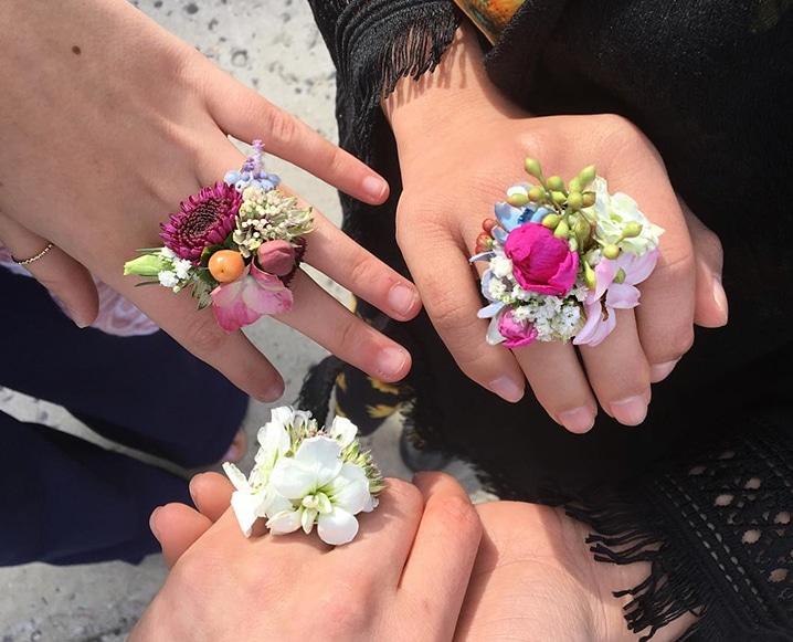 fresh Flower Rings DIY