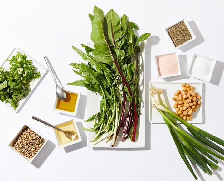 erewhon quinoa dandelion greens salad