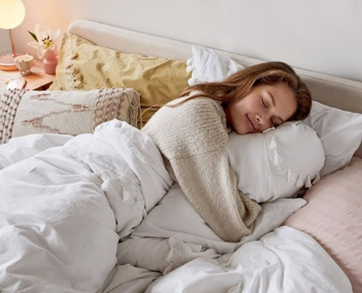 prioritize self-care girl sleeping