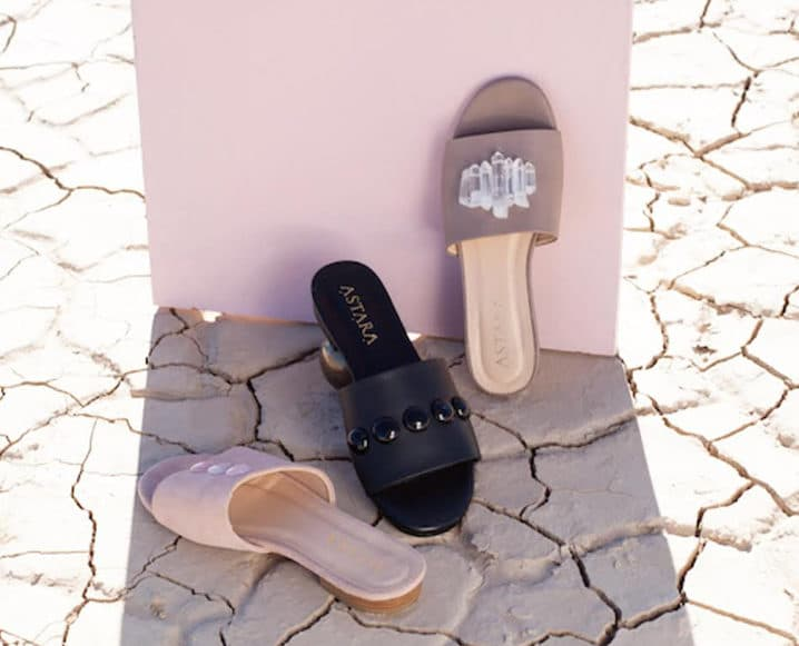 EMF Protection crystal sandals