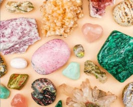 assortment of crystals for health