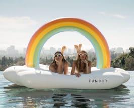 summer pool day girls on float