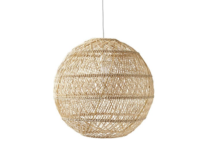 Rattan trend round lamp