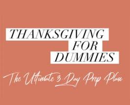 thanksgiving for dummies plan