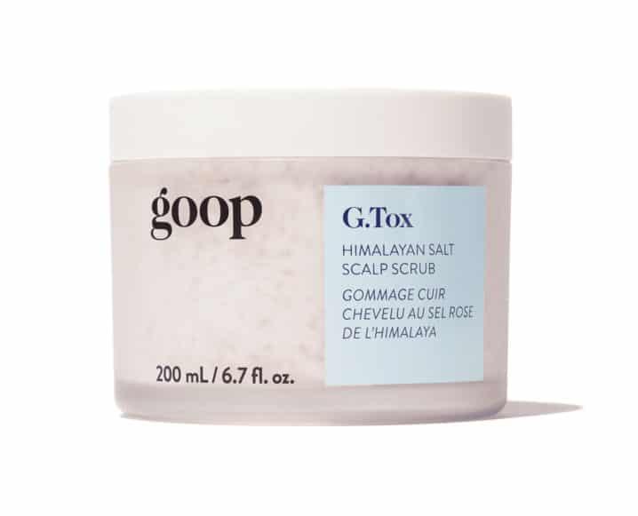 clean hair product Goop Gtox Himalayan salt scrub shampoo