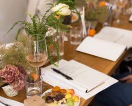 poetry journal flowers wine