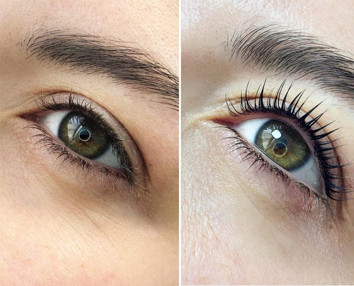 sarah maxwell lash lift before and after