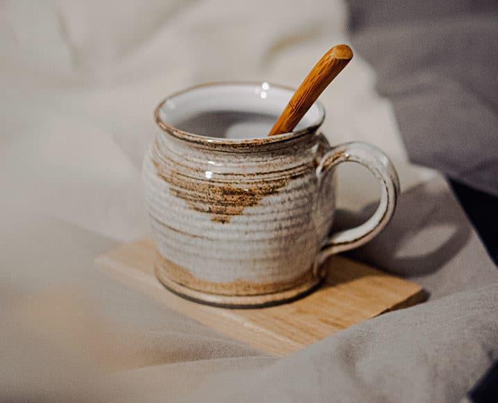 de-stress at home tea cup