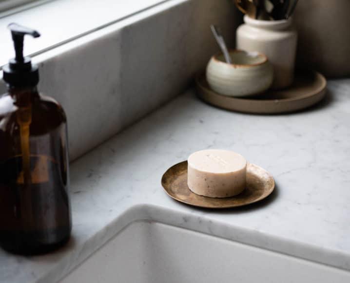 covid symptoms soap in kitchen