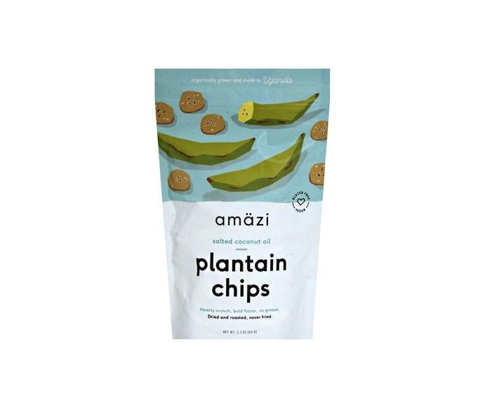 Amazi Dried & Roasted Plantain Chips - Salted Coconut Oil Flavor